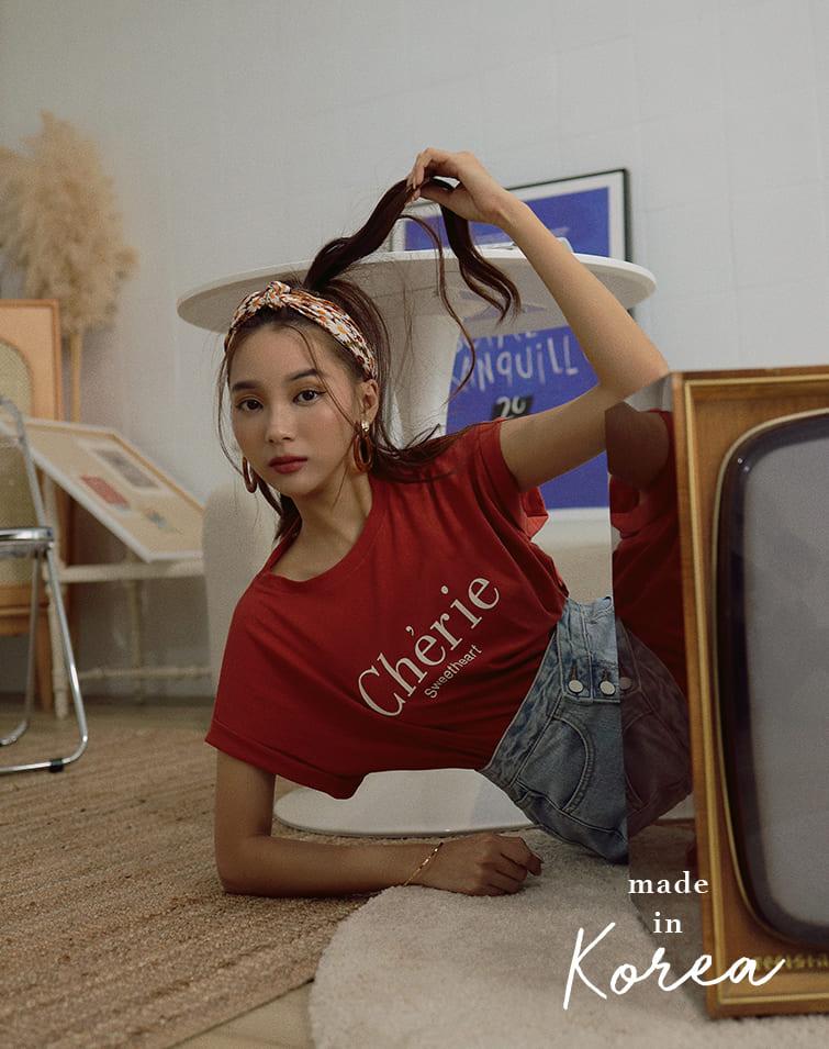 MADE IN KOREA SWEETHEART TEE