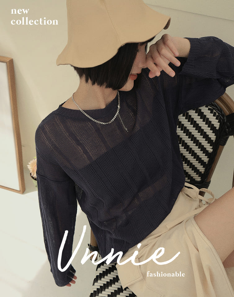 RIBBED THIN KNIT SWEATER