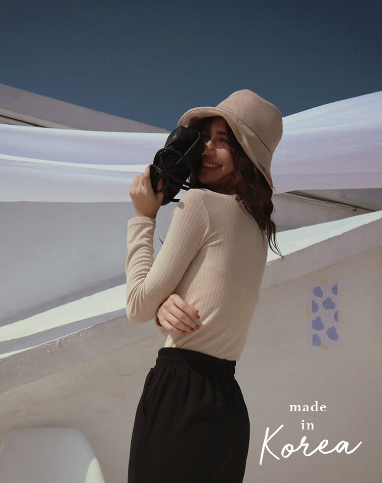 MADE IN KOREA COZY RIBBED TOP