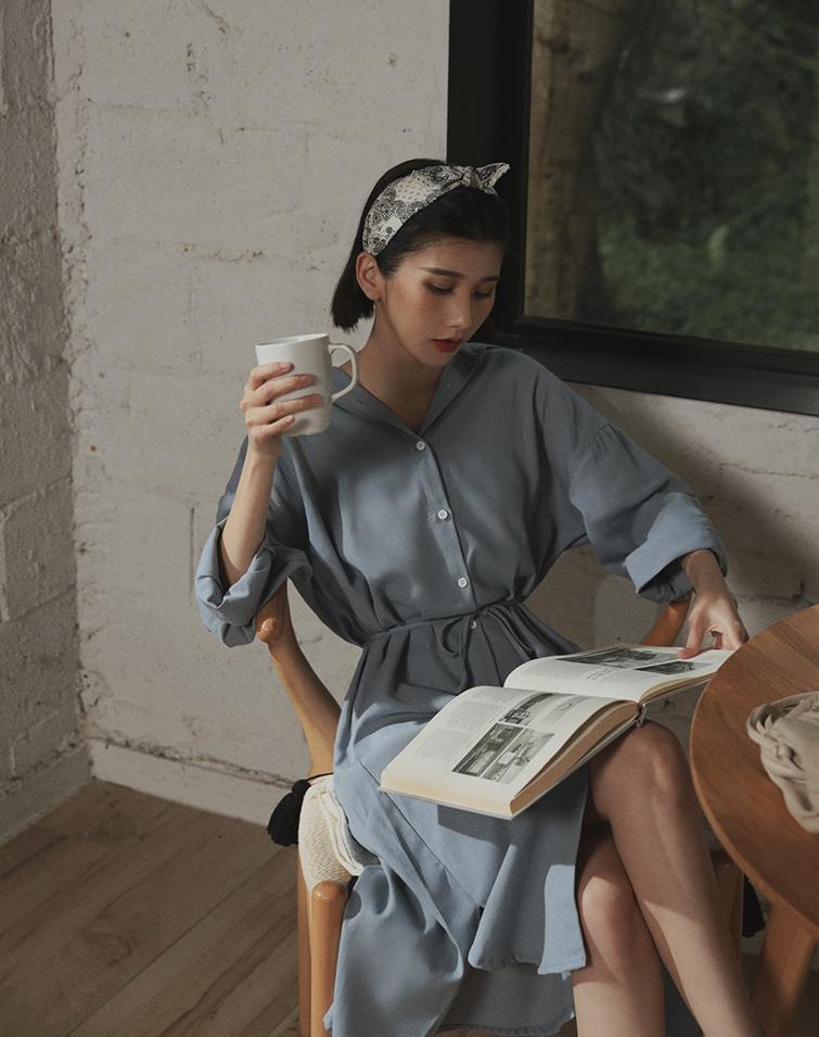A LITTLE LAZY SHIRT DRESS