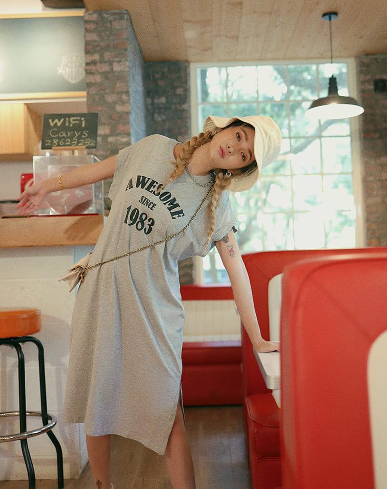 AWESOME1983 TEE DRESS