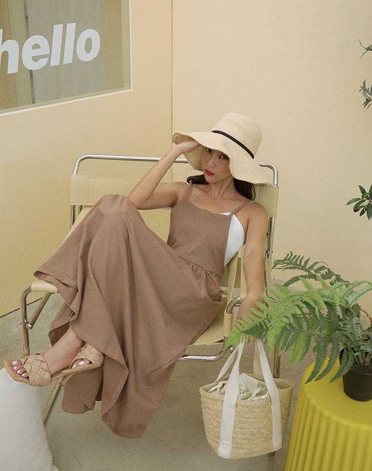FLARE COTTON CAMI DRESS