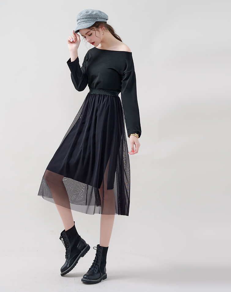 MIT COMFY COTTON DRESS WITH TULLE SKIRT SET