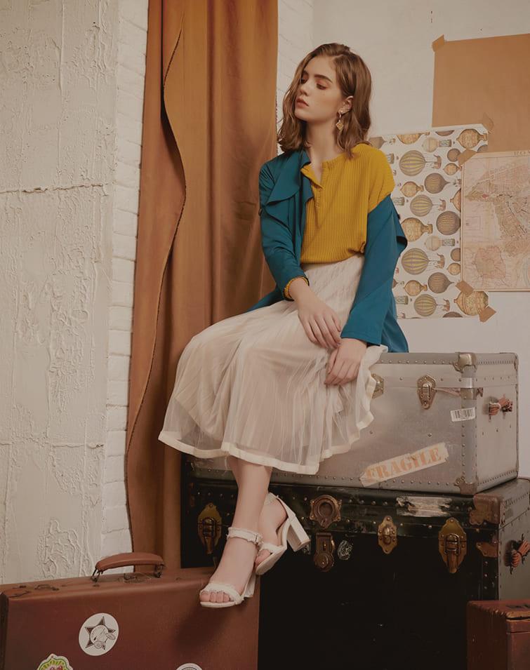 Fair Lady Pleated Tulle Skirt