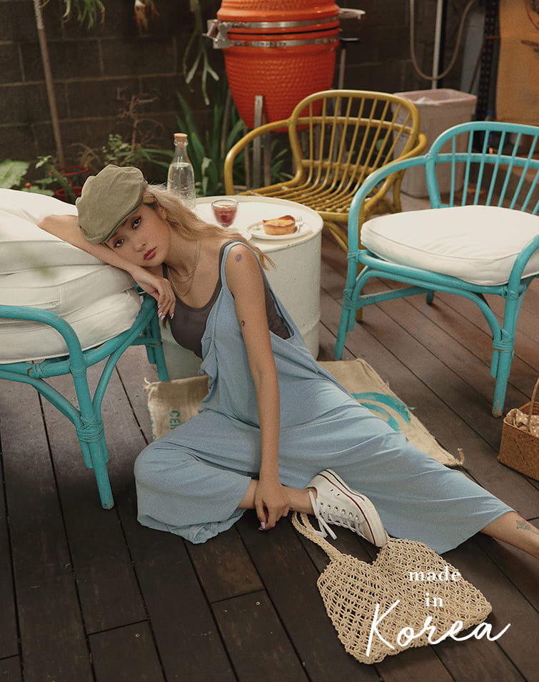 MADE IN KOREA THIN FLARE DUNGAREE