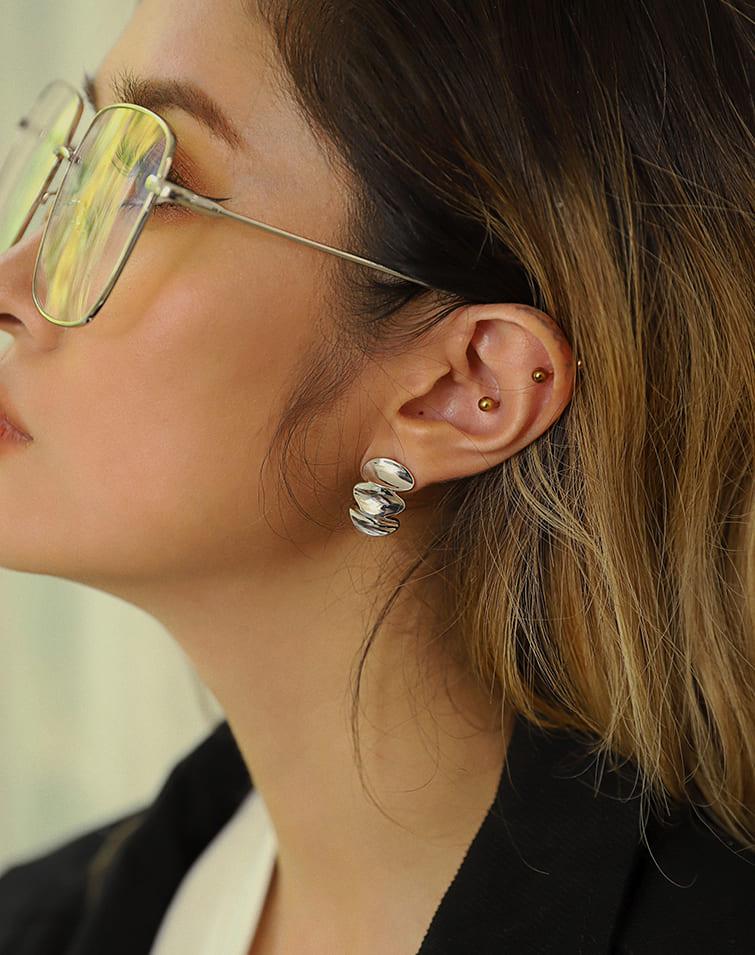 IRREGULAR CURVES DANGLE EARRINGS